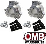 OMB Warehouse (2) 1' Drift Trike Go Kart Live Axle Billet Aluminum Rear Wheel Hubs w/Hardware