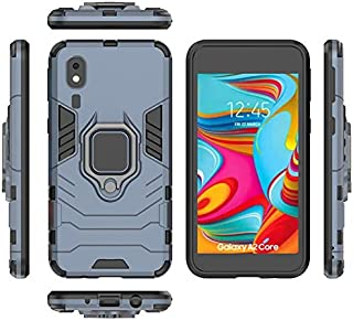 For Samsung Galaxy A2 CORE Case PC + TPU Shockproof Protective Back Case with Magnetized Ring Holder for Samsung Galaxy A2...