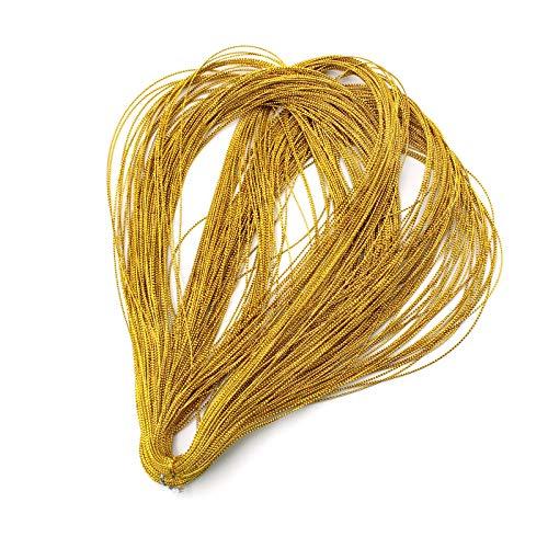 YapitHome 100 m di corda dorata Ø 1 mm di filo dorato per gioielli fai da te perle braccialetto gioielli gioielli regalo