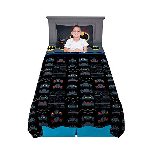 Franco Kids Bedding Super Soft Sheet Set, 3 Piece Twin Size, Batman
