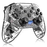 HLLGAME Mando para Switch, Mando Pro Controller Mando Pc Inalambrico con Función Gyro Axis/Dual Shock Y Turbo Compatible,Wireless Bluetooth Controller,Negro