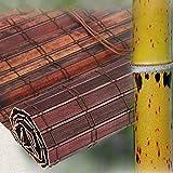 WFENG Persianas Enrollables de Cortina de Bambú de Piel de Tigre, Bambú Cortina de Madera Persiana Enrollable / 1pc / W140×H210cm/55×83in