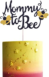SHAMI Handmade Mommy To Bee Cake Topper, Bumble Bee Baby Shower Banner Gender Reveal Party Decorations First Birthday Part...