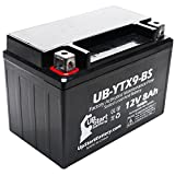 YTX9-BS Battery Replacement (8Ah, 12v, Sealed) Factory Activated, Maintenance Free Battery Compatible with - 2003 Polaris Predator 500, 2008 Suzuki GSX-R600, 2007 Suzuki GSX-R600, 2006 Suzuki GSX-R600