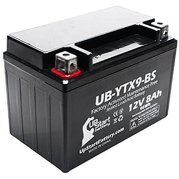 YTX9-BS Battery Replacement  8Ah 12v Sealed  Factory Activated Maintenance Free Battery Compatible with - 2003 Polaris Predator 500 2008 Suzuki GSX-R600 2007 Suzuki GSX-R600 2006 Suzuki GSX-R600