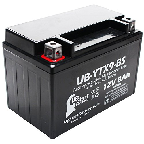 Replacement for 2004 Suzuki LT-Z400 Quadsport 400CC Factory Activated, Maintenance Free, ATV Battery - 12V, 8Ah, UB-YTX9-BS