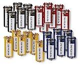 Durable 194927 Schlüsselanhänger Key Clip, einfach aufklappen & beschriften, 24 Stück, farbig sortiert