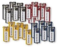 Schlüsselanhänger KEY CLIP mit leichter Öffnung des Beschriftungsfeldes, Abnehmen von Schlüsselring nicht erforderlich Permanent sichtbares Beschriftungsfeld, Schlüssel liegt flach dahinter Für den besten Überblick: Ideal für die Verwendung in Durabl...