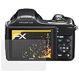 atFoliX Película Protectora Compatible con Nikon Coolpix L100 Lámina Protectora de Pantalla, antirreflejos y amortiguadores FX Protector Película (3X)