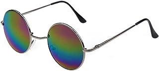 INCEPTION PRO INFINITE - Gafas de sol estilo hippie de los años 60 - (Marco plateado - Lentes multicolores)