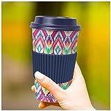 CasaBasics Designer Kaffeebecher to Go aus nachhaltigem Bambus | Kaffee to go Becher ist wiederverwendbar, Vegan, umweltfreundlich, lebensmittelecht und geeignet für die Spülmaschine | 450ml / 15oz - 5