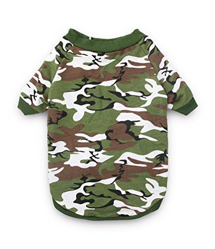 DroolingDog Big Dog Clothes Large Dog Tee Shirts Pet T Shirt XXXL Dog Clothes for Medium Dogs Boy, XXXL, Army Green