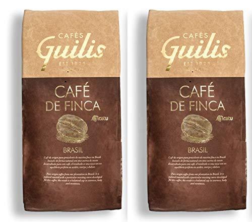 CAFES GUILIS DESDE 1928 AMANTES DEL CAFÉ - Café Origen de Brasil en Grano Arábica Tueste Natural Finca Icatu Minas Gerais 2 kg