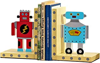 نهايات الدفاتر المزخرفة روبوت الأطفال كتاب الخشب نهاية كتاب للرفوف منضدية الديكور