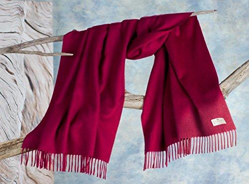 Kaschmirstola Perlmutt, Stola aus 100% Kaschmir mit Wasserglanz rot