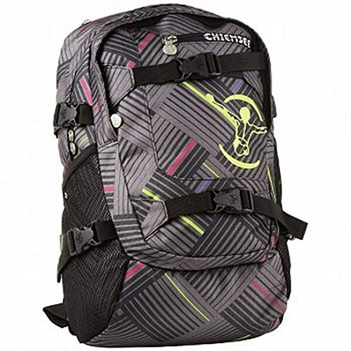 Chiemsee School Rucksack Stripe Check Black
