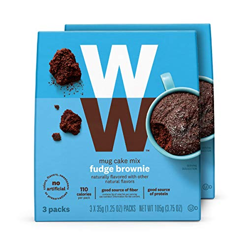 WW Fudge Brownie Mug Cake - High Protein, 3 SmartPoints - 2 Boxes (6 Count Total)