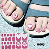 Xisheep Nail Art for Women, Toe Nail Sticker Art Stickers Decal Tips Manicure, DIY Hot Stamping Nail Foil (C)