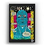 Doctor Manhattan from Watchmen Comic Book - Pop-Art Original Framed Fine Art Painting, Image on Canvas, Artwork, Movie Poster