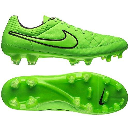 Nike Tiempo Legend V FG Fußballschuhe, Grün - Green Strike/Green Strike/Black-Black - Größe: 40.5 EU
