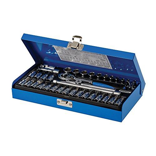 Silverline 633493 dopsleutelset 1/4-inch aandrijfmetrisch - Set van 38