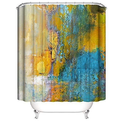 Ciujoy Farbe Stein Marmor Duschvorhang 180x180cm, Anti-Schimmel, Anti-Bakteriell, Wasserdicht aus Polyester mit 12 Duschvorhangringen 3D Digitaldruck, Duschvorhänge für Dusche in Badezimmer