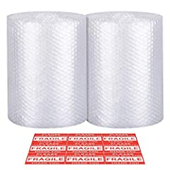 "EASY to Tear - Are you still tired to tear the bubble Cushioning wrap roll by using the tools? This bubble cushioning wrap is perforated every 12"" design makes the bubble cushioning wrap for moving easy to cut into bubble cushioning sheets. It is esp..."