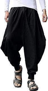 AITFINEISM Men's Casual Baggy Boho Aladdin Hippie Yoga Harem Pants