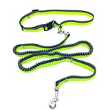 犬 リード ランニングアームバンド 伸縮 犬用リード 腰ベルト付き 運動リード ジョギング/ランニング/ハイキング 犬の リード 犬用品 小・中・大型犬対応