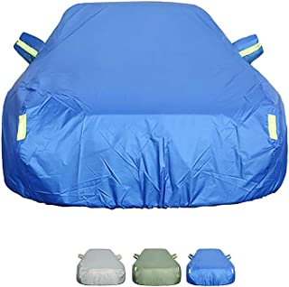 Guoguocy Compatible with Car Cover SEAT Alhambra, Double-Sided Sedan Cover, Universal Fully Waterproof Breathable (Color : C, Size : 2013 1.8TSI)