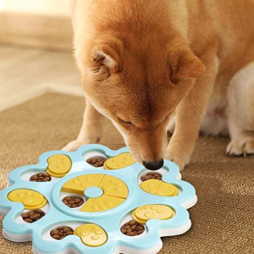 Hundespielzeug Hund Puzzle Feeder Spielzeug Intelligentes Futterspiel Activity Fun Board Hundetraining Game Slow Feeder Futternapf Feeder Toys für Welpen Haustier(Minze)