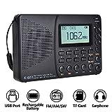 ZJZ Vollband-Bluetooth-Radio FM/AM/SW Tragbare Taschenradios MP3-Digitalrekorder Unterstützung SD TF-Karte Sleep Timer Radio