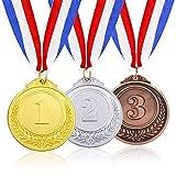 【Materiali di Alta Qualità】Le nostre medaglie sono realizzate in lega di zinco di alta qualità. Comprese medaglie d'oro, d'argento e di bronzo. Molto resistente e pratico. È molto importante per i concorrenti ottenere medaglie soddisfacenti in compet...