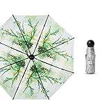 comechen Reiseregenschirm Winddicht Regenschirmwagen offen/geschlossen stabil wasserdicht,50% 8 Knochenkapsel Titansilber Sonnenschirm Farbe5 95cm