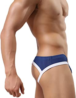 MuscleMate Hot Men's Jockstrap, No Visible Lines, Butt-Flaunting Men's Thong Jockstrap Underwear