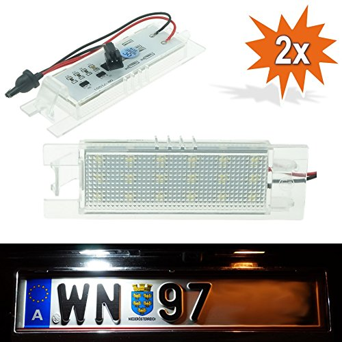 Do.LED vxly01 LED NUMBERPLATE – libre de TÜV Matrícula Lámpara para matrícula lámpara de