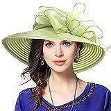 Mujer Elegante Iglesia Bautismo Boda Derby Sombrero Pamelas