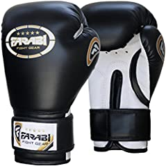 Farabi Kids Boxing Gloves Black 6-oz
