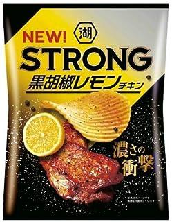 湖池屋 KOIKEYA STRONGポテトチップス 黒胡椒レモンチキン 63g