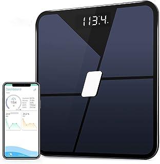Básculas Digitales De Baño Bluetooth Escala De Peso Digital Smart Body Fat Scale Weight Multi Función Glass Scale Bath Ios Android App Black
