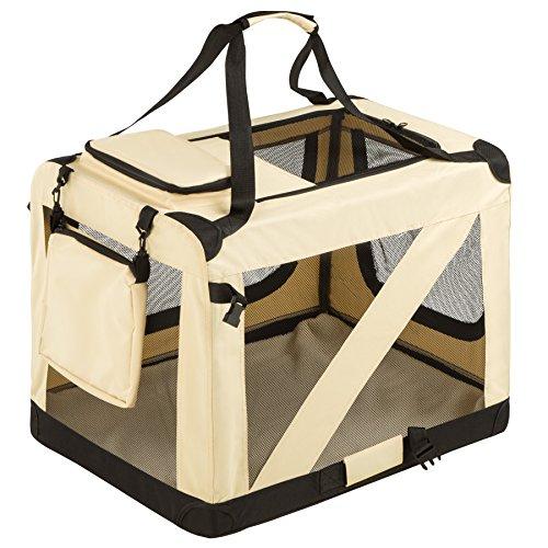 TecTake Faltbare Hundetransportbox Transportbox | -Diverse Größen- (L | Nr. 401039)