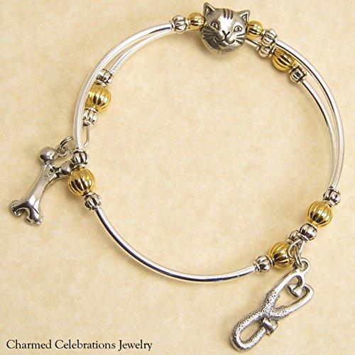 Veterinarian Wrap Bracelet Handmade Themed Charm Bracelet Jewelry Gift. Gold, Silver or Black Bead Option