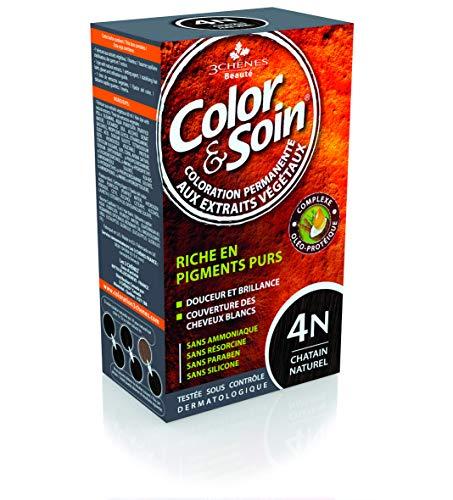 Les 3 Chênes : Color & Soin 4N - châtain naturel