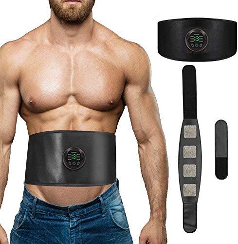 EMS Trainingsgerät, EMS Muskelstimulator Bauchtrainer Elektrisch zur Stärkung der Bauchmuskulatur Trainingsgerät für Herren Damen (kein Gel und Pads nötig)