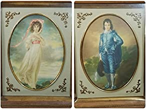 Antique Turner 1950s Blue Boy and Pinkie 3D Lithograph