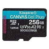 キングストン microSD 256GB 170MB/s UHS-I U3 V30 A2 Nintendo Switch動作確認済 Canvas Go! Plus SDCG3/256GB 永久保証