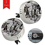 LORVIES - Deodorante per auto con simpatici pinguini, per aromaterapia, 2 pezzi