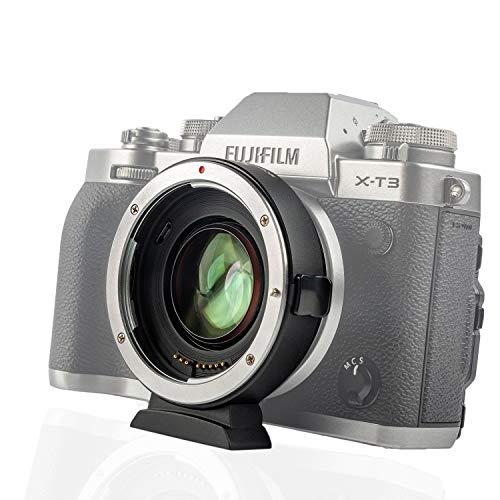 VILTROX EF-FX2 0.71 X スピードブースター キャノン Canon EFレンズ→富士フイルム Fujifilm Xマウントミラーレス一眼カメラ変換 AF マウントアダプター 絞り調整可能 手振れ補正 X-T3 X-T2 X-T20 X-T