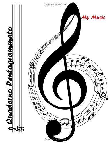 Quaderno Pentagrammato: quaderno di musica pentagrammato grande (formato A4)