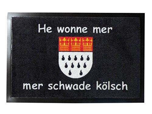 N / A Fußmatte He wonne mer 40x60 cm Türmatte Schmutzfangmatte Köln Matte